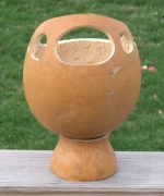 view of gourd planter from the back