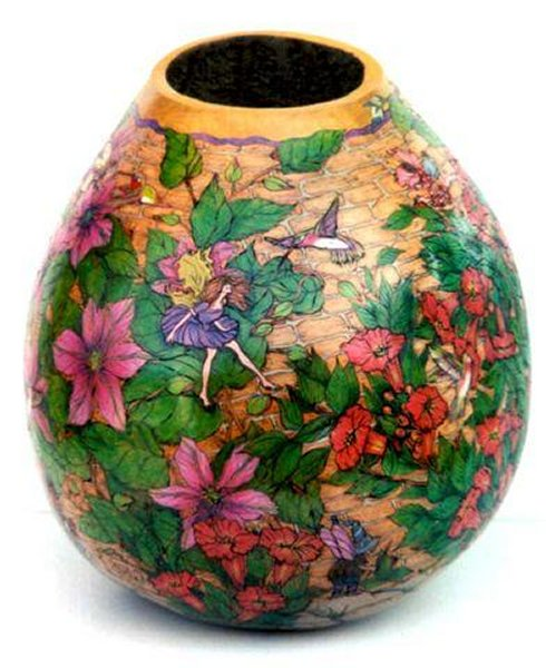 Gerri Bishop gourd art vessel