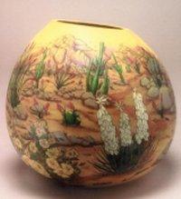 Gerri Bishop gourd bowl