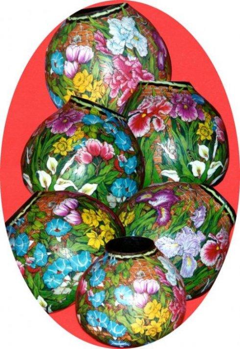 Gerri Bishop gourd art
